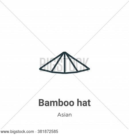 Bamboo hat icon isolated on white background from asian collection. Bamboo hat icon trendy and moder