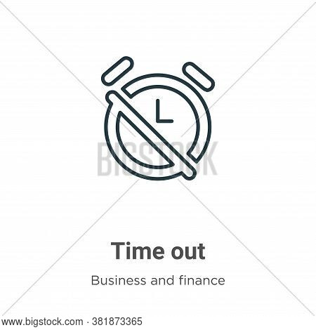 Time out icon isolated on white background from business and finance collection. Time out icon trend