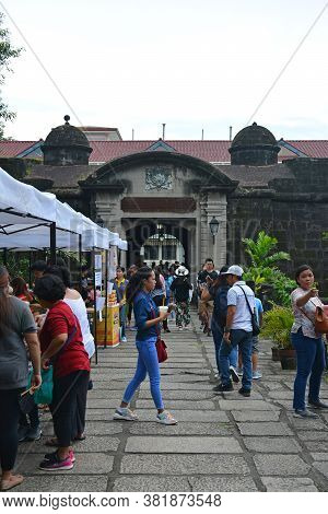 Manila, Ph - Oct. 5 - Puerta Real Bridge And Entrance Arch At Intramuros Walled City On October 5, 2