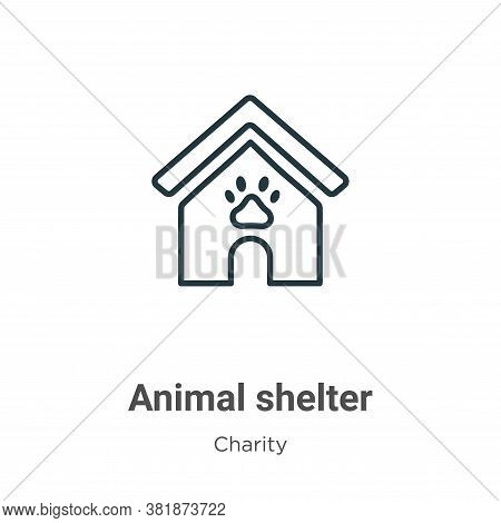Animal shelter icon isolated on white background from charity collection. Animal shelter icon trendy