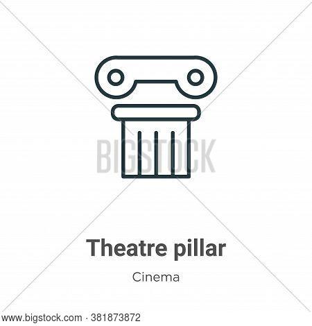 Theatre pillar icon isolated on white background from cinema collection. Theatre pillar icon trendy