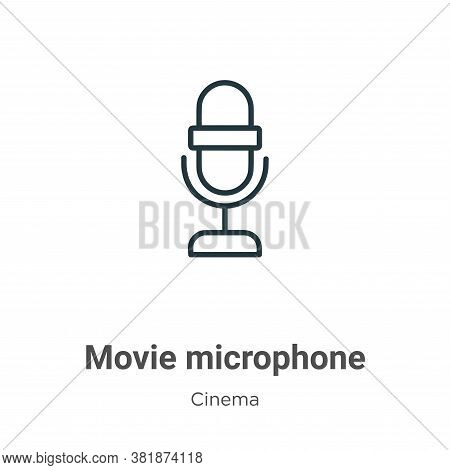 Movie microphone icon isolated on white background from cinema collection. Movie microphone icon tre