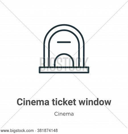 Cinema ticket window icon isolated on white background from cinema collection. Cinema ticket window