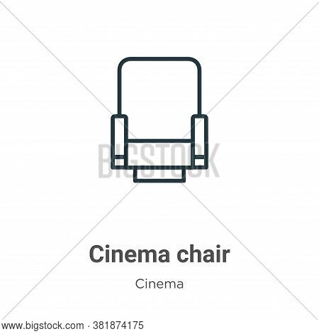 Cinema chair icon isolated on white background from cinema collection. Cinema chair icon trendy and