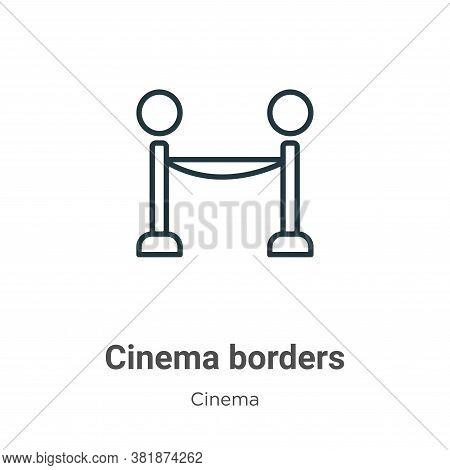Cinema borders icon isolated on white background from cinema collection. Cinema borders icon trendy