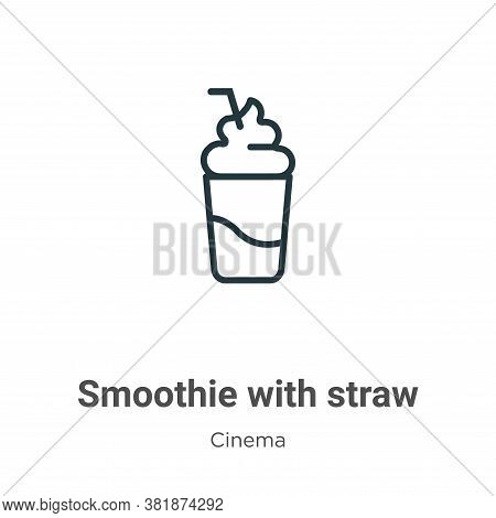 Smoothie with straw icon isolated on white background from cinema collection. Smoothie with straw ic