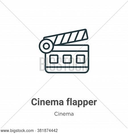 Cinema flapper icon isolated on white background from cinema collection. Cinema flapper icon trendy