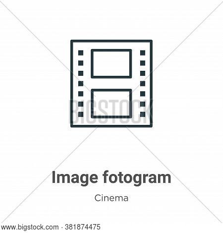 Image fotogram icon isolated on white background from cinema collection. Image fotogram icon trendy