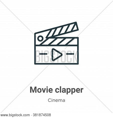 Movie clapper icon isolated on white background from cinema collection. Movie clapper icon trendy an