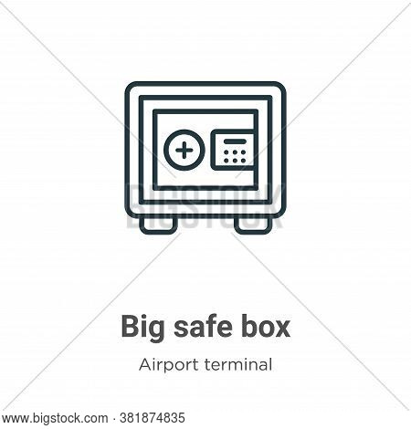 Big safe box icon isolated on white background from airport terminal collection. Big safe box icon t