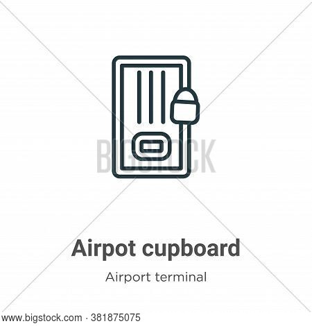 Airpot cupboard icon isolated on white background from airport terminal collection. Airpot cupboard
