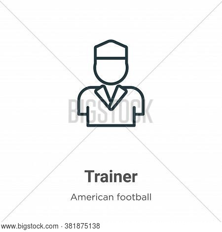 Trainer icon isolated on white background from american football collection. Trainer icon trendy and