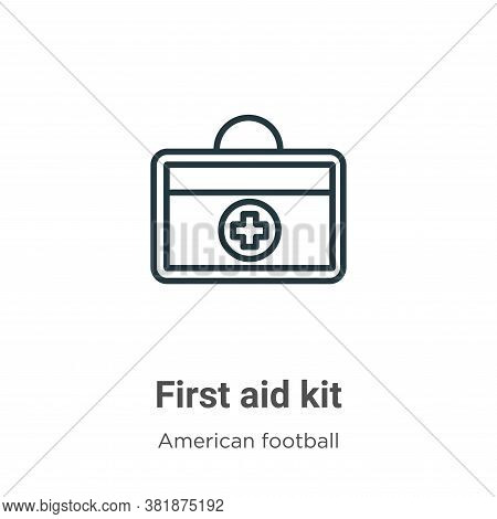 First aid kit icon isolated on white background from american football collection. First aid kit ico
