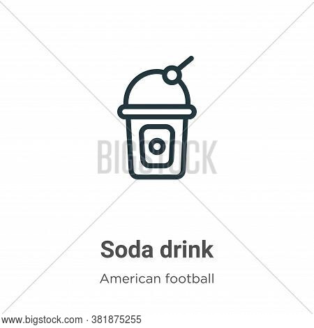 Soda drink icon isolated on white background from american football collection. Soda drink icon tren