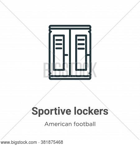 Sportive lockers icon isolated on white background from american football collection. Sportive locke