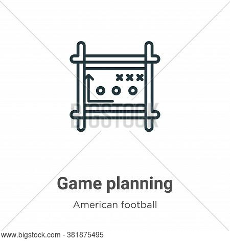 Game planning icon isolated on white background from american football collection. Game planning ico