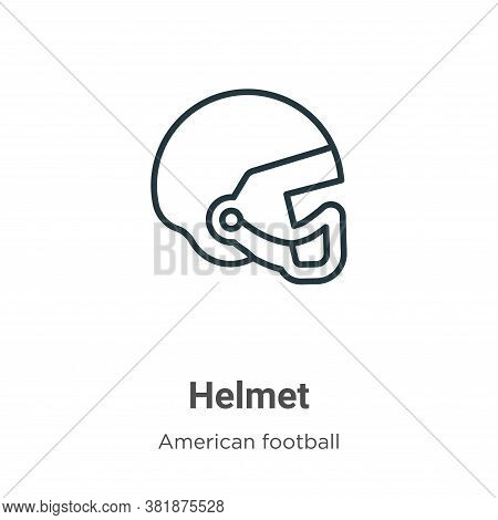 Helmet icon isolated on white background from american football collection. Helmet icon trendy and m