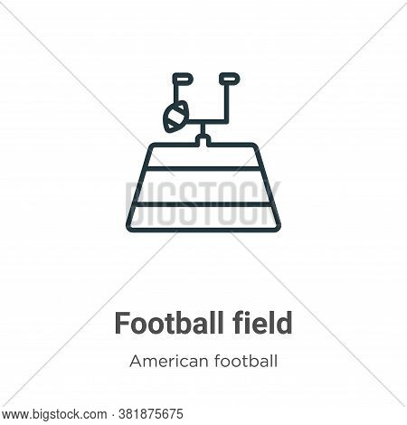 Football field icon isolated on white background from american football collection. Football field i