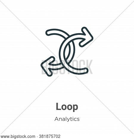 Loop icon isolated on white background from analytics collection. Loop icon trendy and modern Loop s