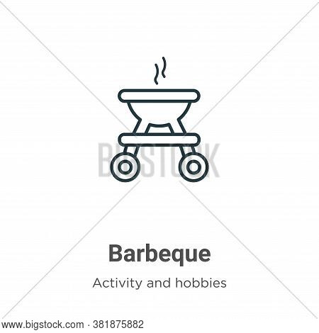 Barbeque icon isolated on white background from activity and hobbies collection. Barbeque icon trend