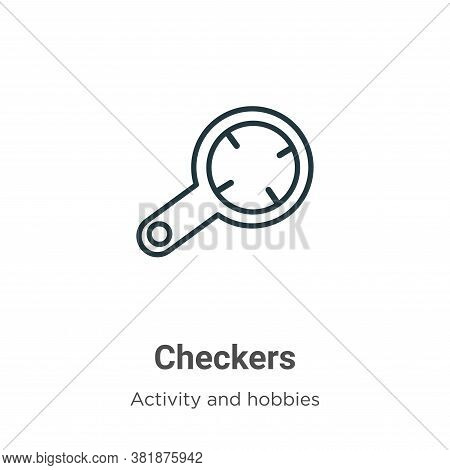 Checkers icon isolated on white background from activity and hobbies collection. Checkers icon trend