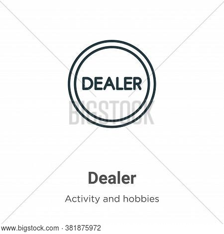 Dealer Icon From Activity And Hobbies Collection Isolated On White Background.