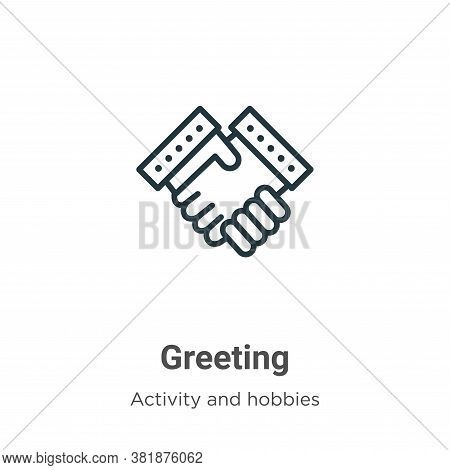 Greeting icon isolated on white background from activity and hobbies collection. Greeting icon trend