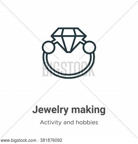 Jewelry making icon isolated on white background from activity and hobbies collection. Jewelry makin