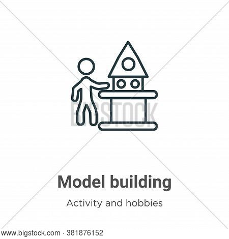 Model building icon isolated on white background from activity and hobbies collection. Model buildin