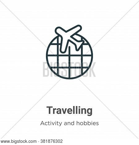 Travelling icon isolated on white background from activities collection. Travelling icon trendy and