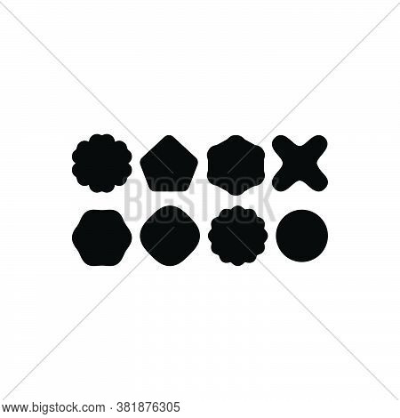 Black Solid Icon For Variety Different Shape Type Structure Math Variation Miscellaneousness
