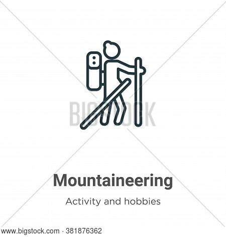 Mountaineering Icon From Activities Collection Isolated On White Background.