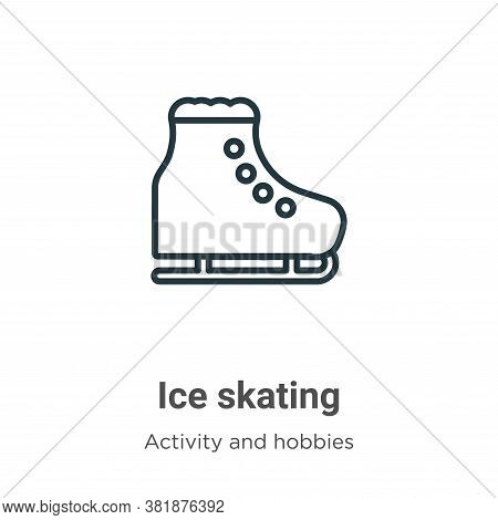 Ice skating icon isolated on white background from activities collection. Ice skating icon trendy an