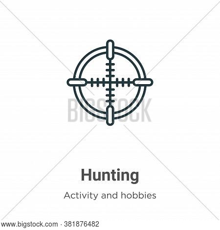 Hunting icon isolated on white background from outdoor activities collection. Hunting icon trendy an