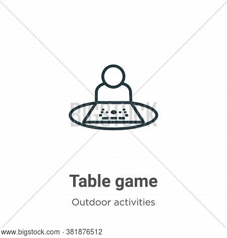 Table game icon isolated on white background from outdoor activities collection. Table game icon tre