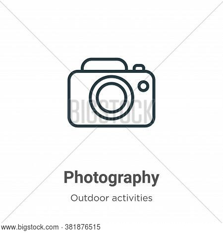 Photography icon isolated on white background from outdoor activities collection. Photography icon t