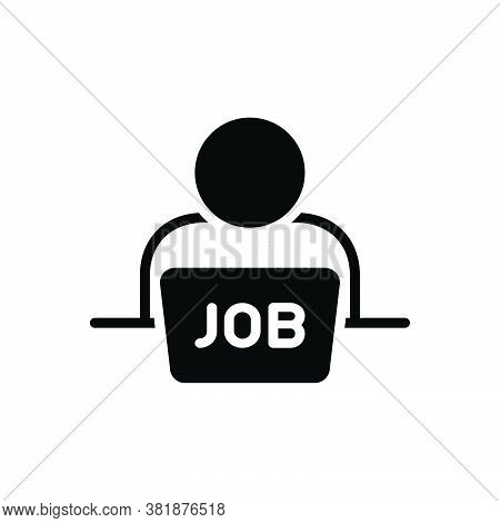 Black Solid Icon For Job Occupation Profession Trade Career Vacancy Curiosity