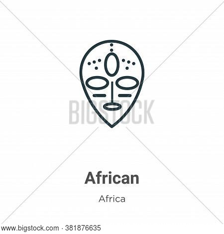 African icon isolated on white background from africa collection. African icon trendy and modern Afr