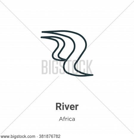 River icon isolated on white background from africa collection. River icon trendy and modern River s