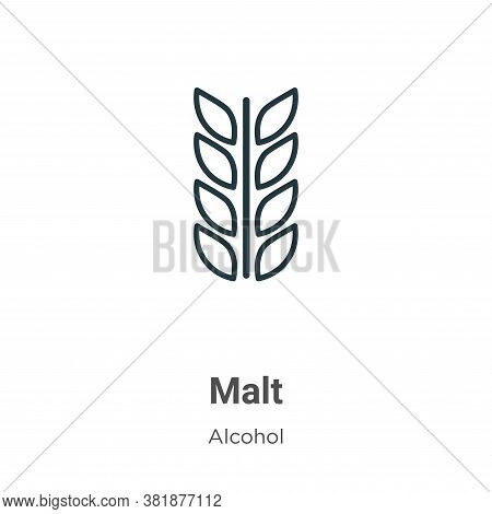 Malt icon isolated on white background from alcohol collection. Malt icon trendy and modern Malt sym