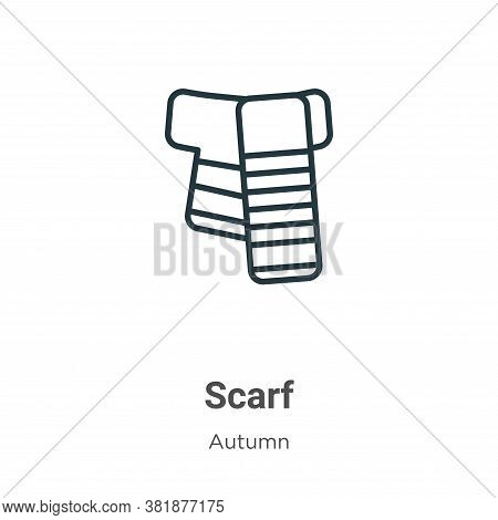 Scarf icon isolated on white background from autumn collection. Scarf icon trendy and modern Scarf s