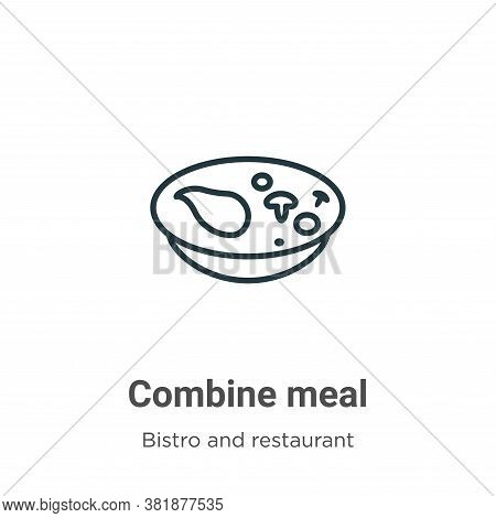 Combine meal icon isolated on white background from bistro and restaurant collection. Combine meal i
