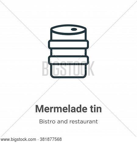 Mermelade tin icon isolated on white background from bistro and restaurant collection. Mermelade tin