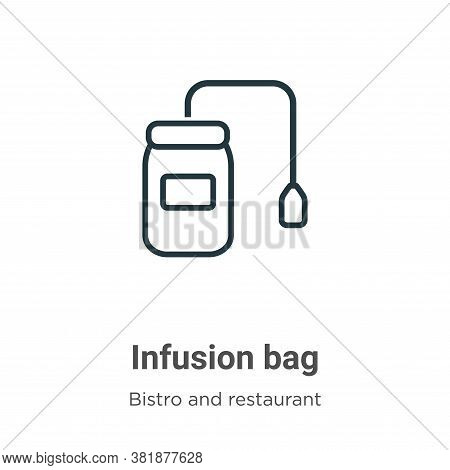Infusion bag icon isolated on white background from bistro and restaurant collection. Infusion bag i