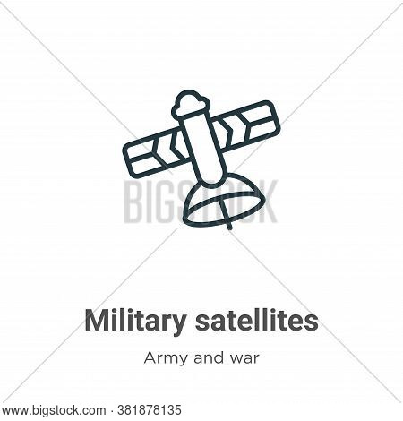 Military satellites icon isolated on white background from army and war collection. Military satelli