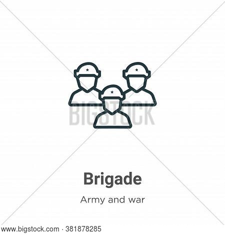 Brigade icon isolated on white background from army and war collection. Brigade icon trendy and mode