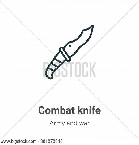 Combat knife icon isolated on white background from army and war collection. Combat knife icon trend