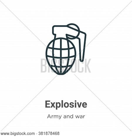 Explosive icon isolated on white background from army collection. Explosive icon trendy and modern E
