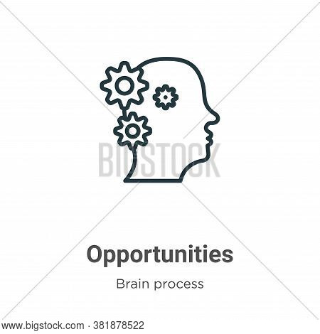 Opportunities icon isolated on white background from brain process collection. Opportunities icon tr