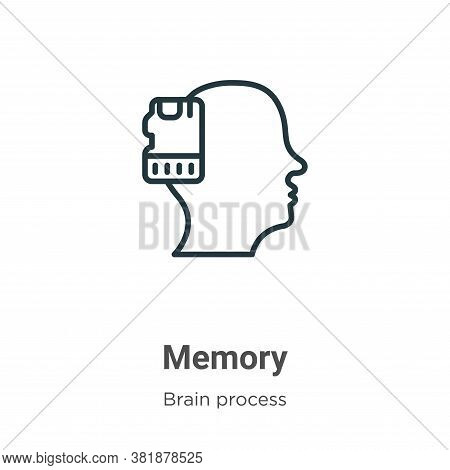 Memory icon isolated on white background from brain process collection. Memory icon trendy and moder